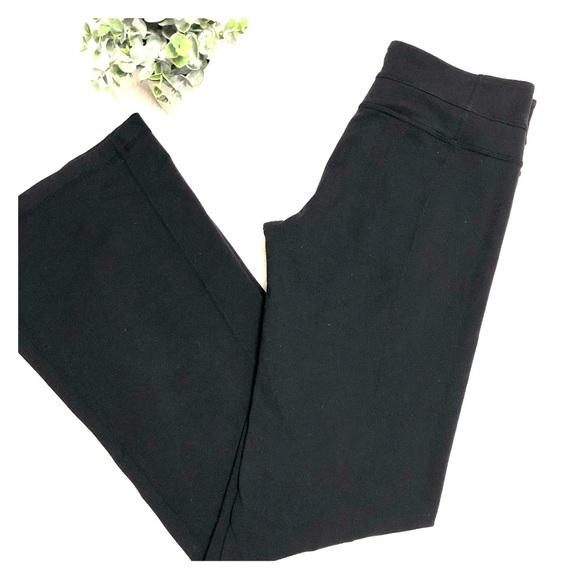 Plain black Lululemon groove pant